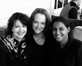 Kimberley, Liz and Pooja